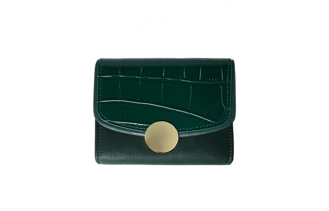 MAYA SHORT WALLET - ARMY GREEN